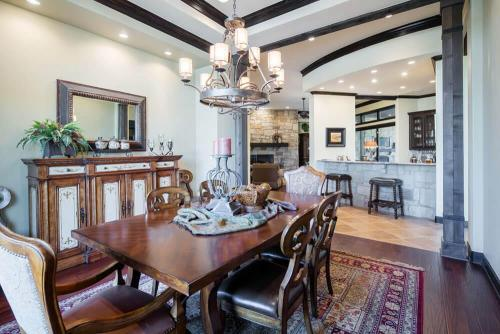 Contemporary Texas Hill Country Dining Room